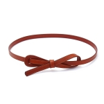FSA015 Big Ribbon Thin Belt, Taupe